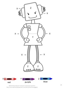 Bundle Robot Themed, Special Education and Autism Resources,Summer School