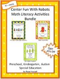 Robot Theme Preschool & Kindergarten Math and Literacy Worksheets Special Ed