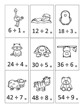 Center Game Basic Division Facts Sort, Meets CCSS
