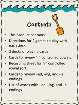 Literacy Center Game - Phonics
