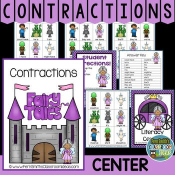 Contractions A Quick and Easy to Prep Fairy Tale Center Game