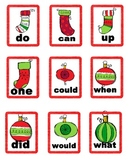 Literacy Center Game - Holiday Jingle Uno - Dolch sight words