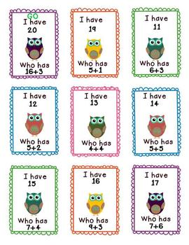Literacy Center Game - I Have, Whooo Has? - sight word fun