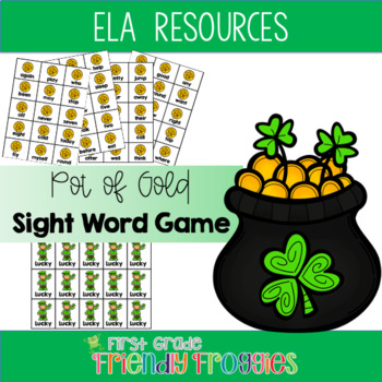 Literacy Center Game - Jackpot!  St. Patrick's Day Sight W