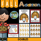 Fall Addition Quick and Easy to Prep Addition Center Game - Addition Doubles