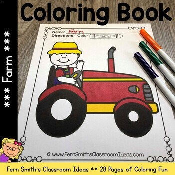 Farm Coloring Pages and Farm Animals Coloring Pages - 28 Pages Of Farm Coloring