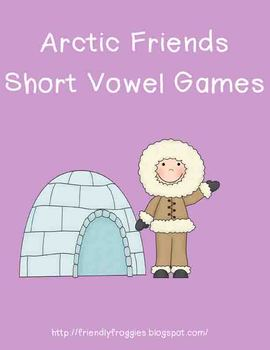 Literacy Center Game - Winter Word Work Center Arctic Freeze Short Vowels