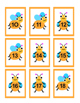 Bugs in a Jar with Numbers and Letters Center Games