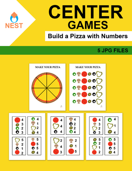 Center Games Build a Pizza with Numbers