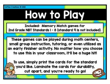Math Games -2.NBT.1, 2.NBT.2, 2.NBT.3, 2.NBT.4, 2.NBT.5, 2.NBT.6, 2.NBT.7 - 8