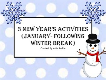 New Year's Resolutions or WInter Break Center Group Games !