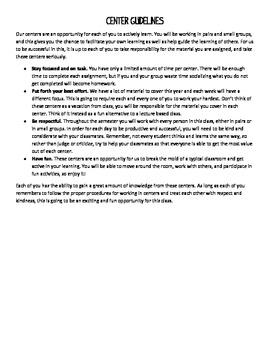 Center Guidelines