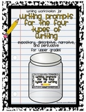 Center Jar Common Core Writing Prompts for the 4 Types of Writing- Upper Grades