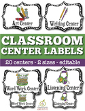 Classroom Center Labels