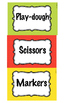 Center Labels - labeling - organization - back to school - containers