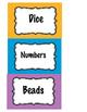 Center Labels - labeling - organization - back to school -