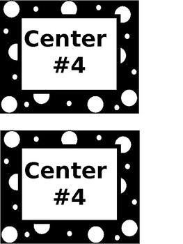 Center Labels (Black & White)-EDITABLE
