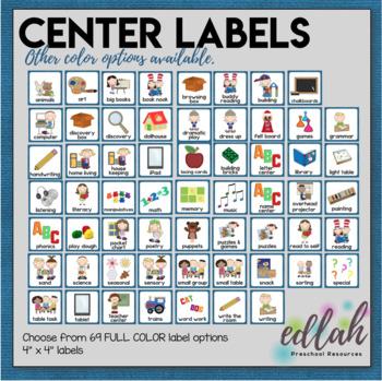 Center Labels- Blue