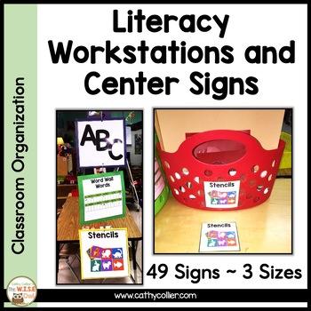 Classroom Center Signs:  Black Chevron