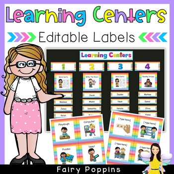 Center (Centre) Labels - EDITABLE