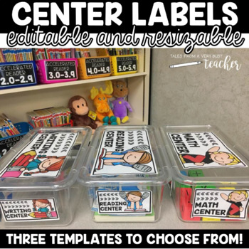 Center Labels {Editable and Resizable}
