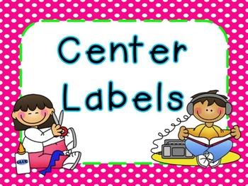 Center Labels Freebie (Bright Frames)