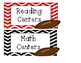 Center Labels: Math Centers and Reading Centers (Literacy) - Football Theme
