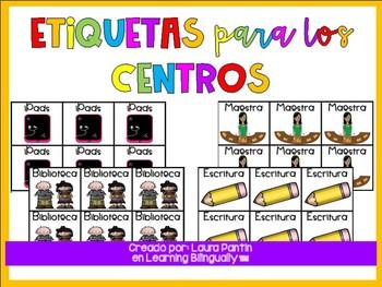 Center Labels Spanish
