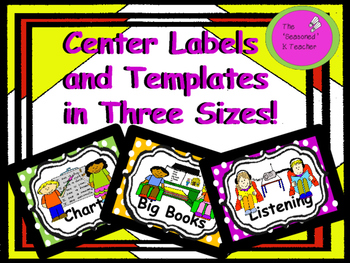 Center Labels and Templates in Three Sizes!