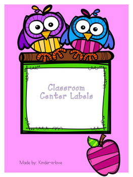 Center Labels for Classroom