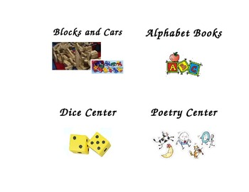 Center Labels with clip art