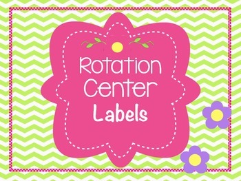 Center Labels/Rotation signs