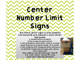 Center Limit Signs