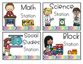 Center / Literacy Station Cards