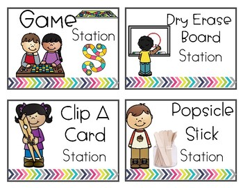 Center / Literacy Station Cards