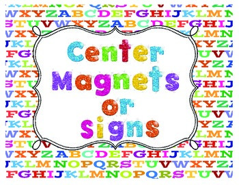Center Signs or Center Magnets