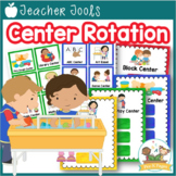 Center Management Signs and Cards for Preschool