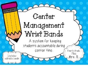Center Management Wrist Bands - Includes Editable Bands