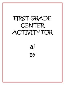 "Center Matching Game: ""ai"" and ""ay"""