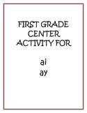 "Center Matching Game: ""ai"" and ""ay"""