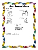 Center Menu for students