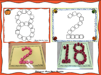 Center Numbers and Shapes with CUBES numeros Bilingual Stars Mrs. Partida