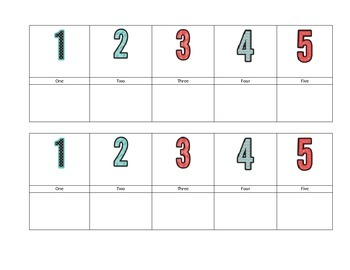 Center Numbers for Choice Time. EDITABLE