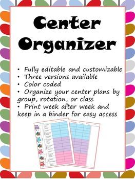 Center Organization Binder