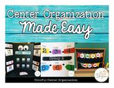 Center Organization Made Easy: Freebie