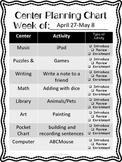 Center Planning Chart