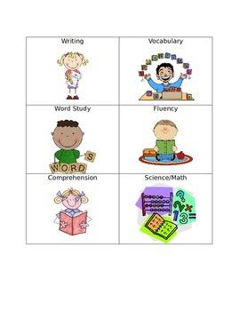 Center Pocket Chart Cards