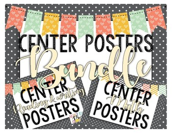 Center Posters Bundle for Reading & Writing, and Math!
