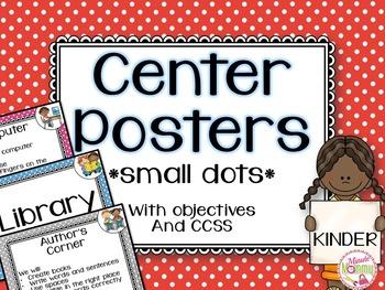 Center Posters- Kindergarten *Small Dots*