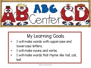 BACK TO SCHOOL ACTIVITIES -Center Posters and Printables for KINDERGARTEN